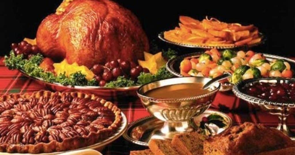 Holiday Food Turkey Pecan Pie